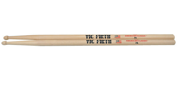 Vic Firth 7A Wood Tip Drum Sticks VF-7A-0