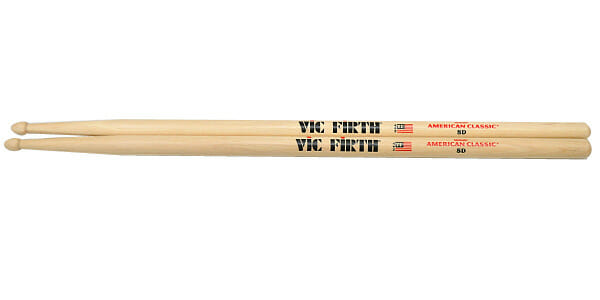 Vic Firth 8D Wood Tip Drum Sticks VF-8D-0