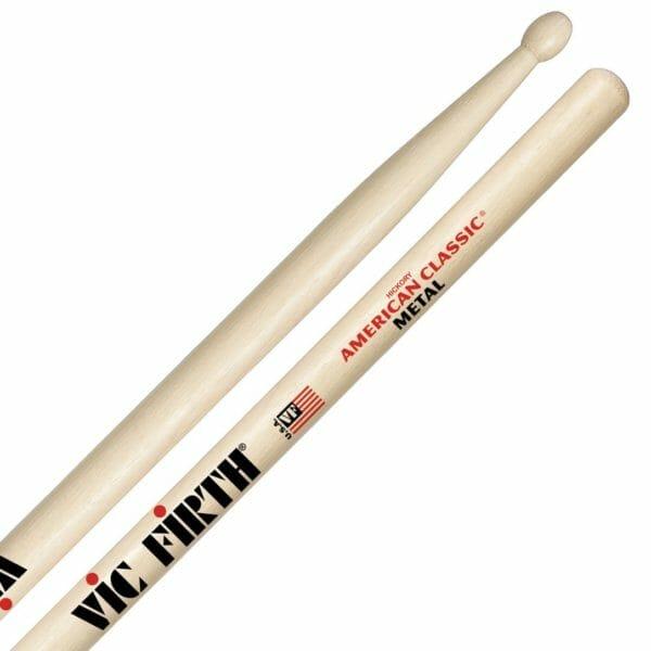 Vic Firth Metal Wood Tip Drum Sticks VF-CM-0