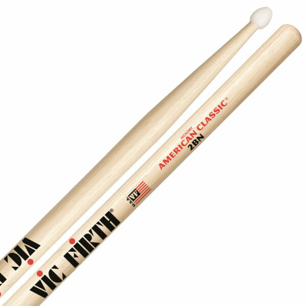 Vic Firth 2B Nylon Tip Drum Sticks VF-2BN-0
