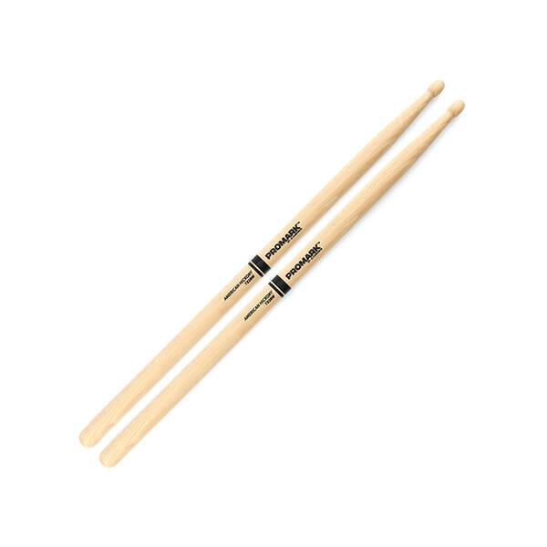 Pro Mark Hickory 2B Wood Tip Drum Sticks-0