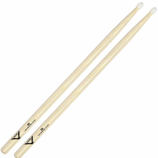 Vater Hickory 5B Nylon Tip Drum Sticks VH5BN-0