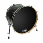 Evans EQ1 Black Resonant 22 inch Bass Head-0