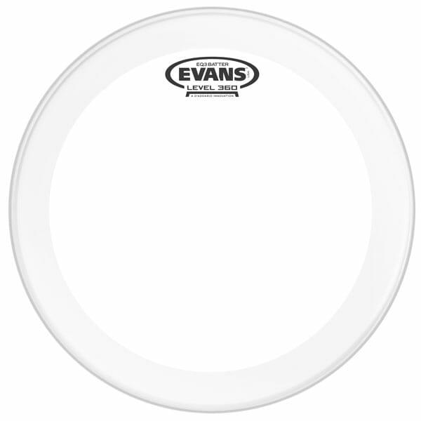 Evans EQ3 Clear 24 inch Bass Head-983