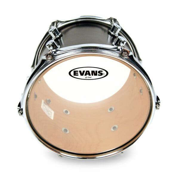 Evans G2 Clear 08 inch Tom Head-0