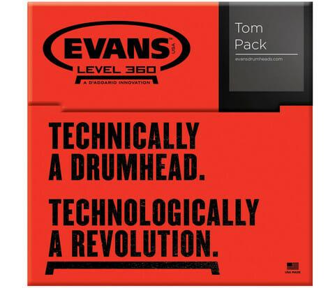 Evans EC2 SST Clear Standard 12/13/16 Tom Head Pack-872