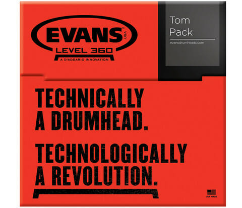 Evans G1 Clear Standard 12/13/16 Tom Head Pack-841
