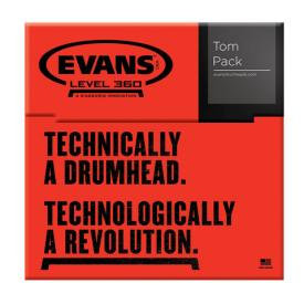 Evans G2 Coated Standard 12/13/16 Tom Head Pack-853