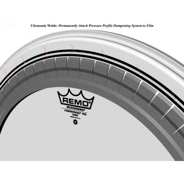 Remo Clear Powerstroke Pro 22 inch Bass Drum Head-1740