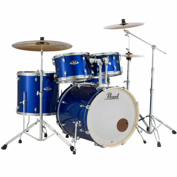 Pearl EXX725SBR/C717 Export Drum Kit with Sabian SBR Cymbal Pack (High Voltage Blue)-0