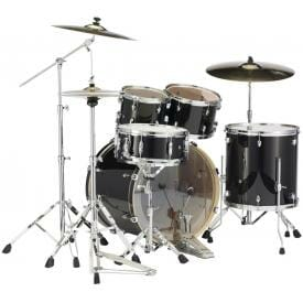 Pearl EXX725S/#31 Export Drum Kit with Sabian SBR Cymbal Pack - Jet Black-501