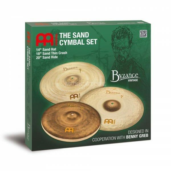Meinl Benny Greb Byzance Vintage Sand Cymbal Set-0