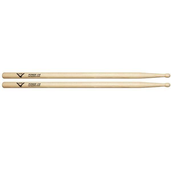 Vater Hickory Los Angeles Power 5B Wood Tip Drum Sticks VHP5BW-0