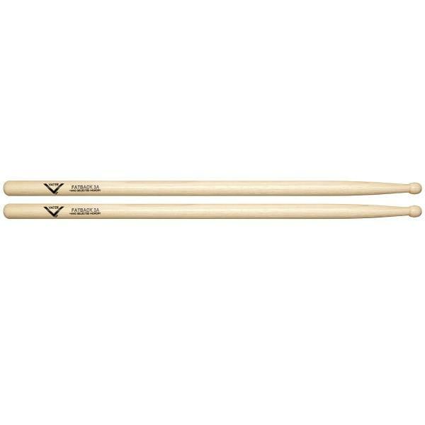Vater Hickory Fatback 3A Wood Tip Drum Sticks VH3AW-0