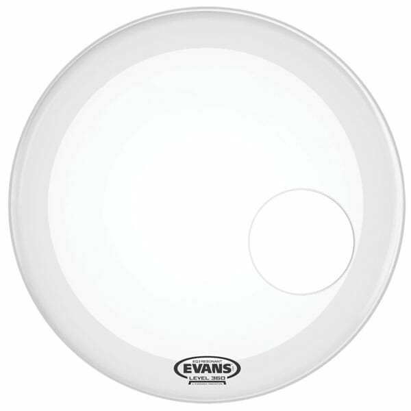 Evans EQ3 Smooth White 22 inch Bass Head - With Port-1024