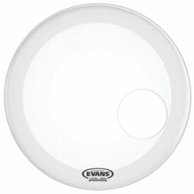 Evans EQ3 Smooth White 18 inch Bass Head - With Port-1028