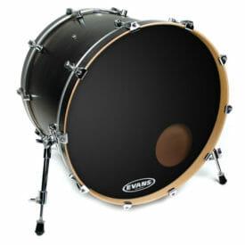 Evans EQ3 Black 22 inch Bass Head - With Port-0