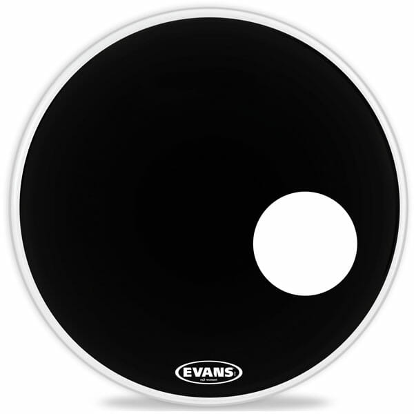 Evans EQ3 Black 22 inch Bass Head - With Port-1043