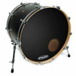 Evans EQ3 Black 18″ Bass Head – With Port-0