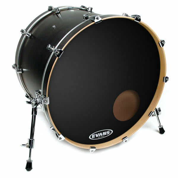 "Evans EQ3 Black 18"" Bass Head - With Port-0"