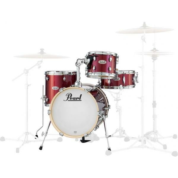 Pearl Midtown Series Portable Drum Kit Shell Pack-Black Cherry Glitter -0