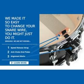 "Puresound Custom Pro Series Brass Snare Drum Wires 13"" 20 Strand-CPB1320-2026"