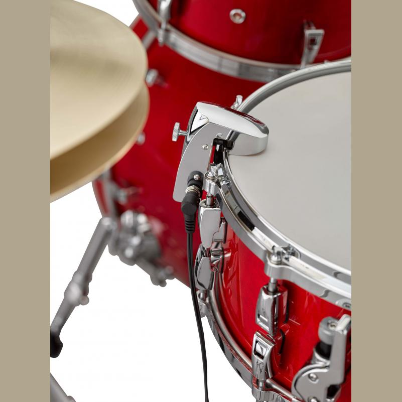 Yamaha DT50S Snare & Tom Drum Trigger with Head & Rim Pickups Solid Die-Cast Metal Body & Chrome Finish-2143