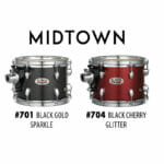 Pearl Midtown Series Portable Drum Kit Shell Pack-Black Gold Sparkle-2087