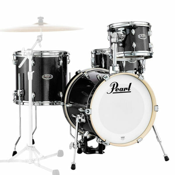 Pearl Midtown Series Portable Drum Kit Shell Pack-Black Gold Sparkle-0
