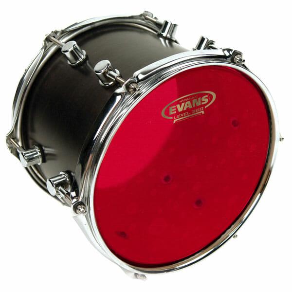 "Evans 360 12"" Hydraulic Red Tom Drum Head-0"