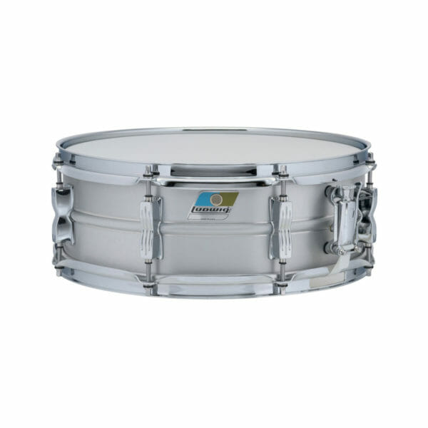 "Ludwig Acrolite LM404C 14x5"" Beaded Brushed Aluminum Snare Drum -0"