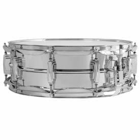 """Ludwig Supraphonic LM400 14x5"""" Beaded Aluminum Snare Drum -0"""