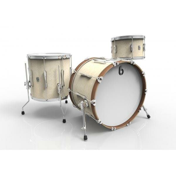 """British Drum Co.-Lounge Club 24"""" 3-Piece Shell Pack- Wiltshire White"""