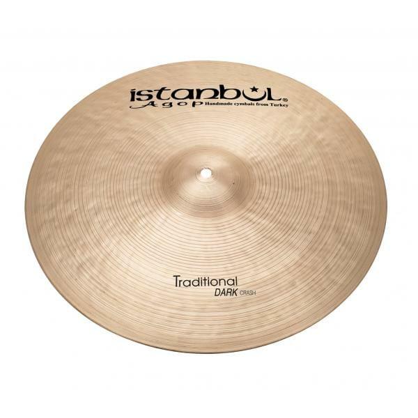 "Istanbul Agop Traditional Dark 18"" Crash Cymbal-0"