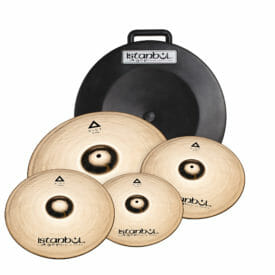 "Istanbul Agop Xist Brilliant Cymbal Set inc Free 18"" Crash & Hardcase-0"