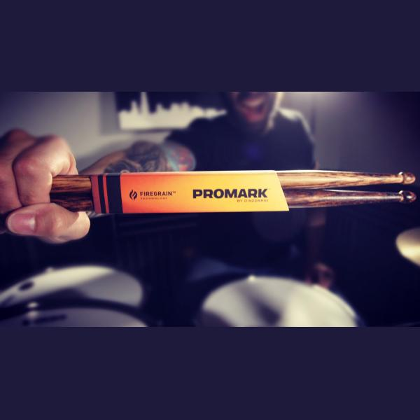 Promark FireGrain 5A Oval Tip Drum Sticks-2593