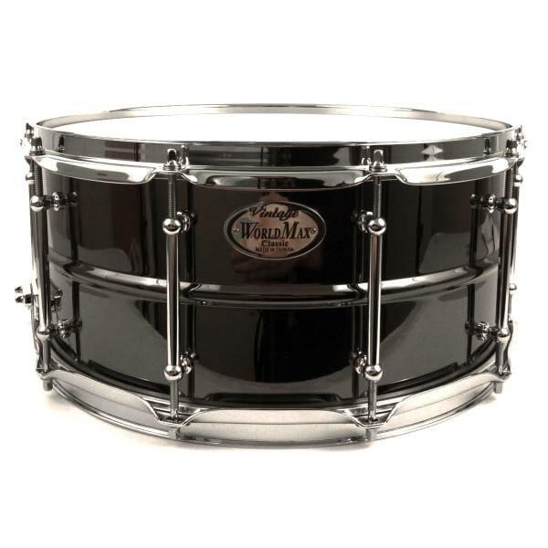 Worldmax 14x6.5 Black Brass w/ Chrome Snare Drum-0