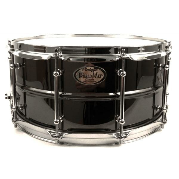 Worldmax 14x5 Black Brass w/ Chrome Snare Drum-0