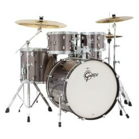 "GRETSCH Energy, 10""/12""/14""/20""+14SD, Drum Kit with Hardware and Paiste 101 Cymbal Pack, Grey Steel"