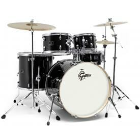 "Gretsch Energy 20"" Drum Kit with Hardware and 3 Piece Paiste 101 Cymbal Pack - Black"