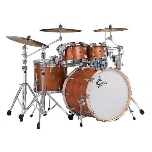 "Gretsch USA Brooklyn Shell Pack Satin Mahogany 10"" x 7"" TT / 12"" x 8"" TT / 16"" x 14"" FT / 22"" x 18"" BD"