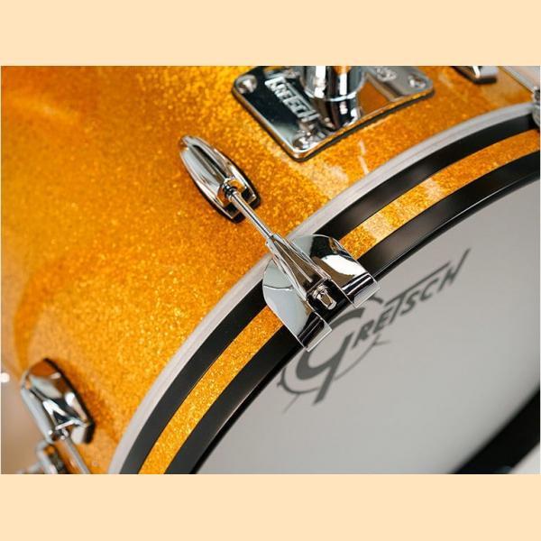 """Gretsch USA Brooklyn Shell Pack Gold Sparkle 10"""" x 7"""" TT / 12"""" x 8"""" TT / 16"""" x 14"""" FT / 22"""" x 18"""" BD - GR808208"""