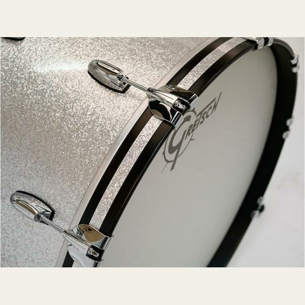 "Gretsch USA Brooklyn Shell Pack Silver Sparkle 10"" x 7"" TT / 12"" x 8"" TT / 16"" x 14"" FT / 22"" x 18"" BD"