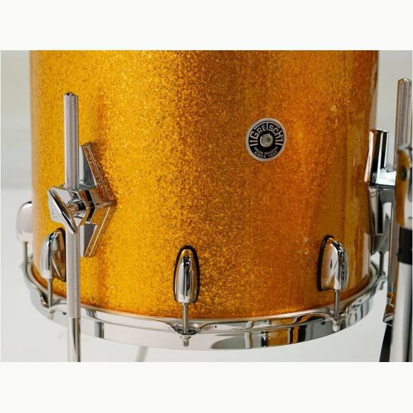 "Gretsch USA Brooklyn Shell Pack Gold Sparkle 13"" x 9"" TT / 16"" x 16"" FT / 24"" x 14"" BD"