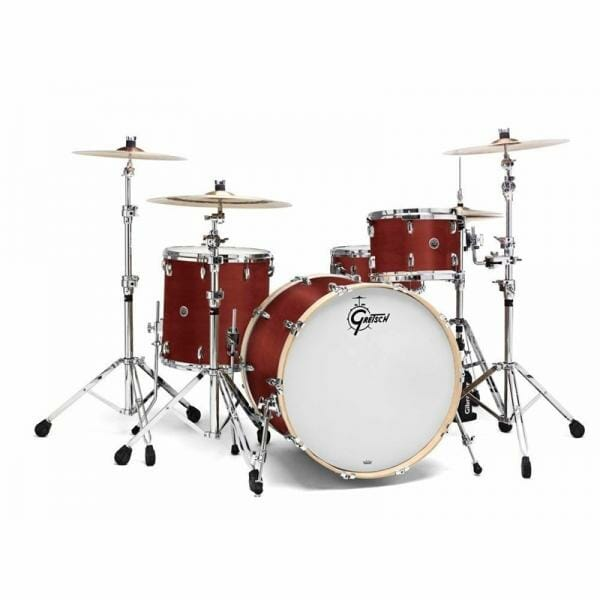 "Gretsch USA Brooklyn Shell Pack Satin Mahogany 13"" x 9"" TT / 16"" x 16"" FT / 24"" x 14"" BD"