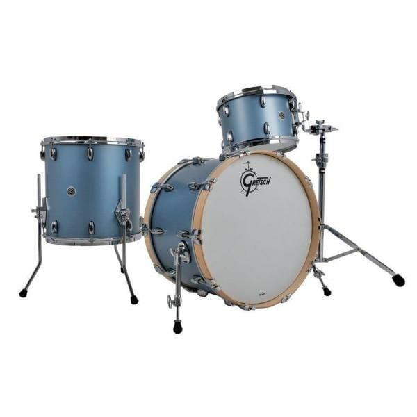"Gretsch USA Brooklyn Shell Pack Satin Ice Blue Metallic 13"" x 9"" TT / 16"" x 16"" FT / 22"" x 14"" BD"