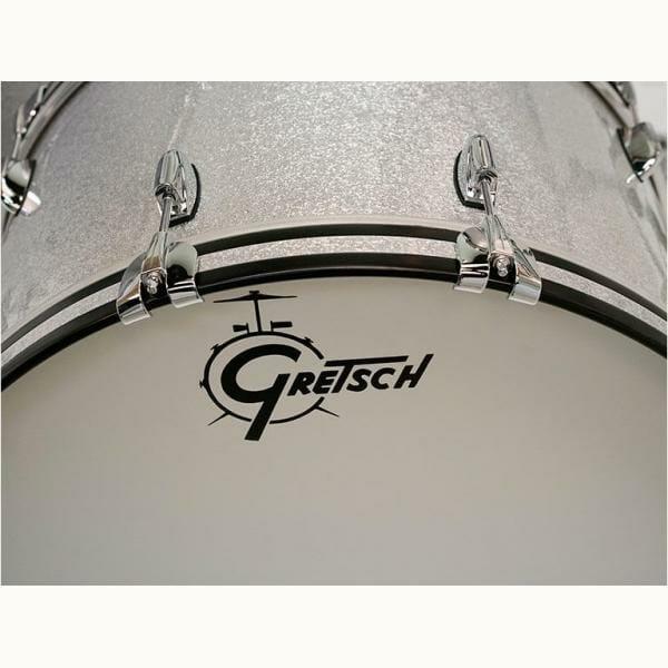 """Gretsch USA Brooklyn Shell Pack Silver Sparkle 12"""" x 8"""" TT / 14"""" x 14"""" FT / 20"""" x 14"""" BD - GR808087"""