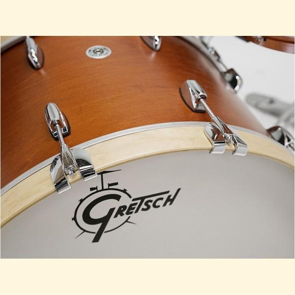 "Gretsch USA Brooklyn Shell Pack Satin Mahogany 12"" x 8"" TT / 14"" x 14"" FT / 18"" x 14"" BD - GR808045"