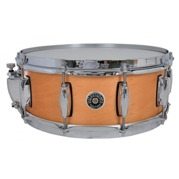 Gretsch Brooklyn Snare Drum Satin Natural - 14 x 6.5 Lightning Throw