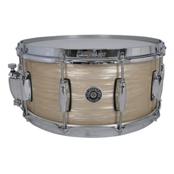 Gretsch Brooklyn Snare Drum Cream Oyster - 14 x 6.5 Lightning Throw